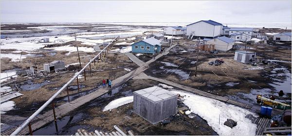 Newtok, Alaska (Foto: Charles Mason, NYT)